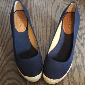 Shoes - blue wedges-jcrew
